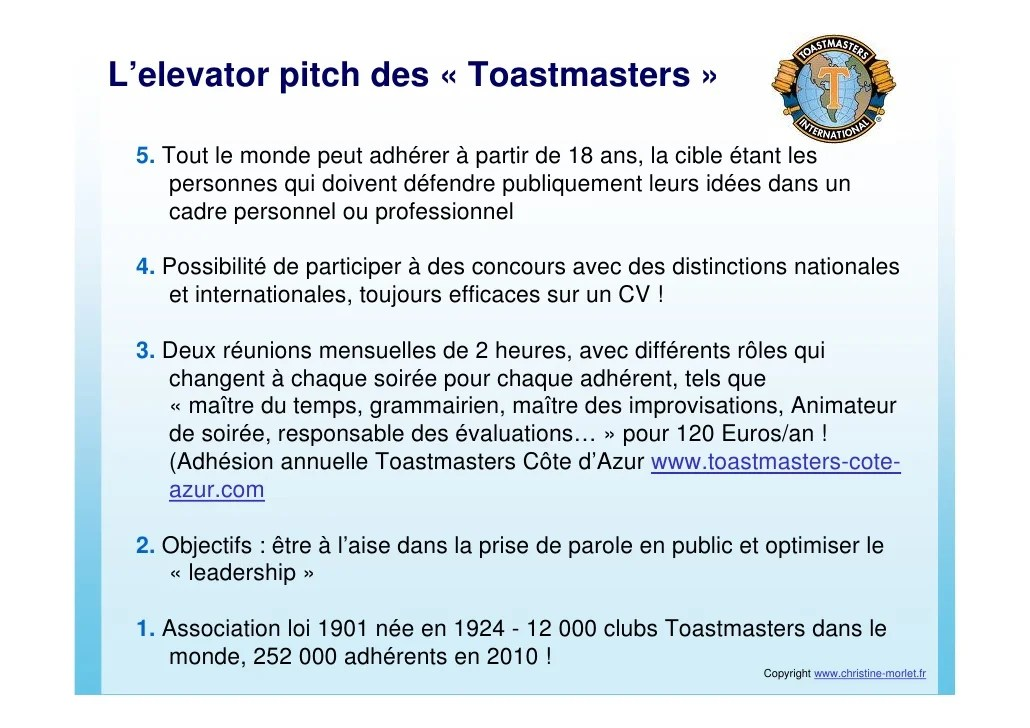 faire pitch cv