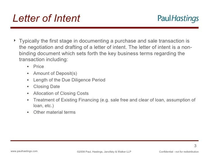 What Is A Letter Of Intent To Purchase A Business – Letter of Intent to Purchase Business Template Free