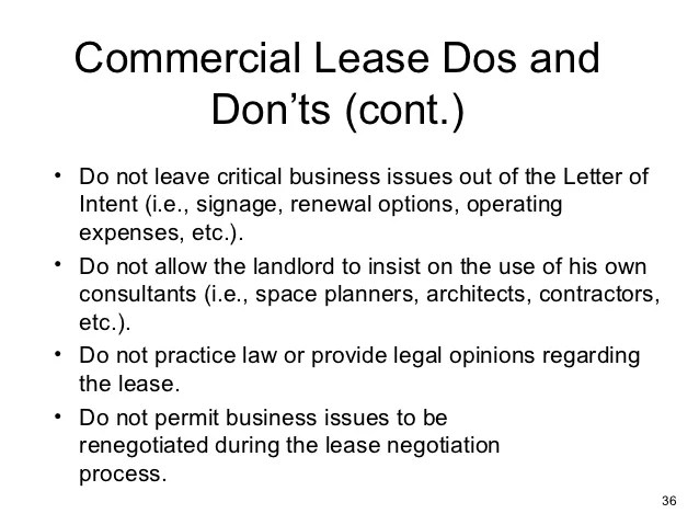 Commercial Lease Templates – Sample Letter of Intent to Lease