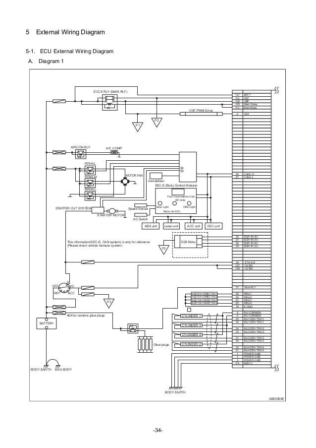 ecu schematic diagram