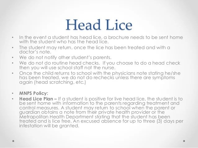 Head Lice Kidshealth Communicable Disease And Student Health Related Issues