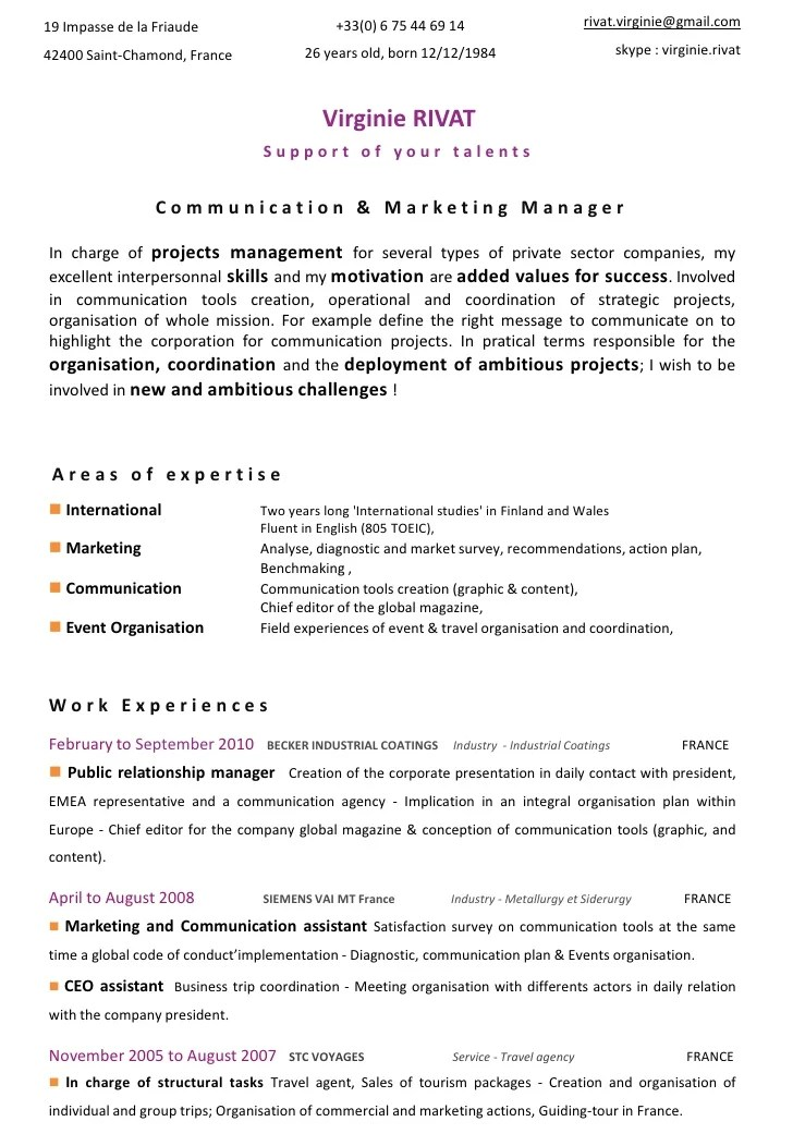 cv assistant communication linkedin