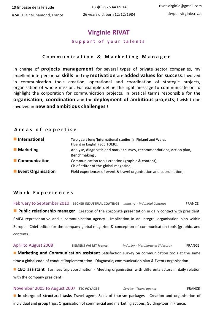 cv assistant communication linkedin