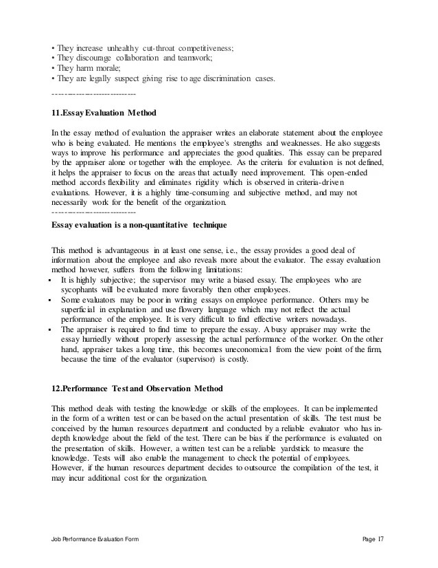 employee performance management agreement - Josemulinohouse - performance evaluation letter