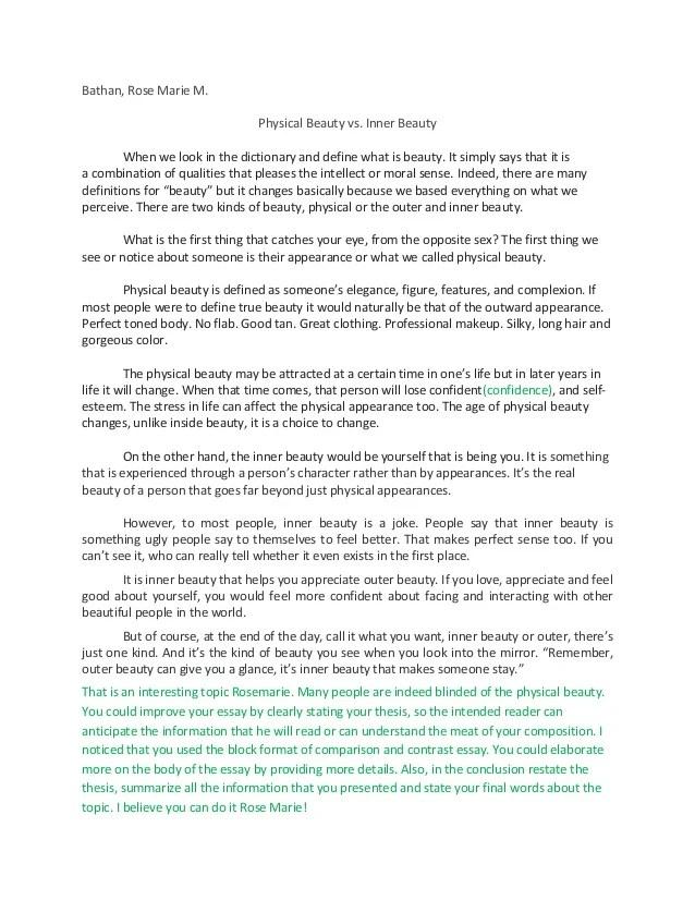 essay on inner beauty - Towerssconstruction