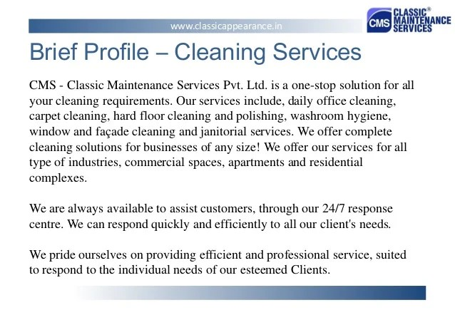 Cv Services For You The Cv Squad Professional Cv Writing Services Classic Maintenance Services Pvt Ltd Presentation