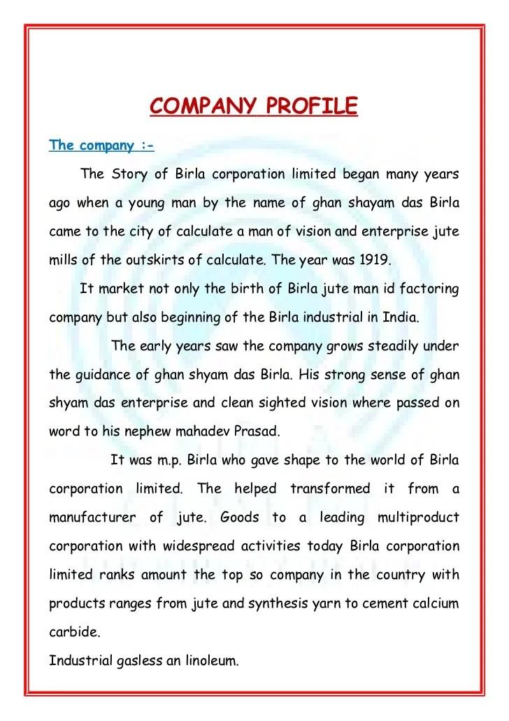 Company profile template word company profile template word filename business profile format wajeb Images
