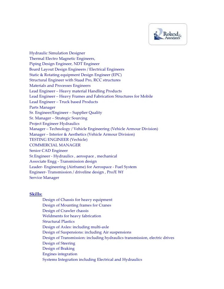 Sample resume pcb design engineer