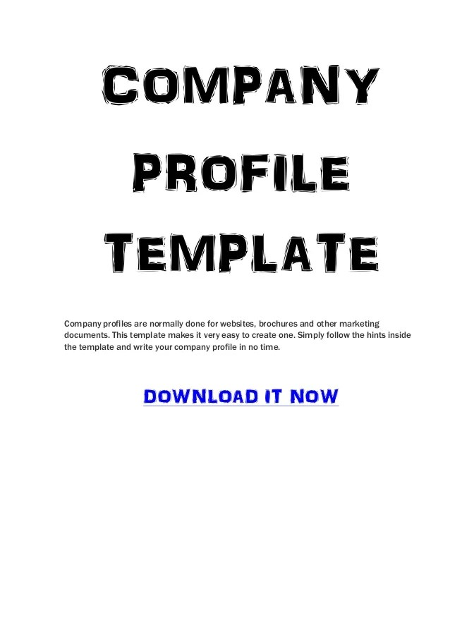 Download Business Company Profile Template For Free Company Profile Template