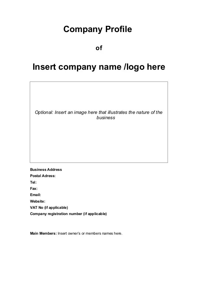 sample company profile template doc - Goalgoodwinmetals