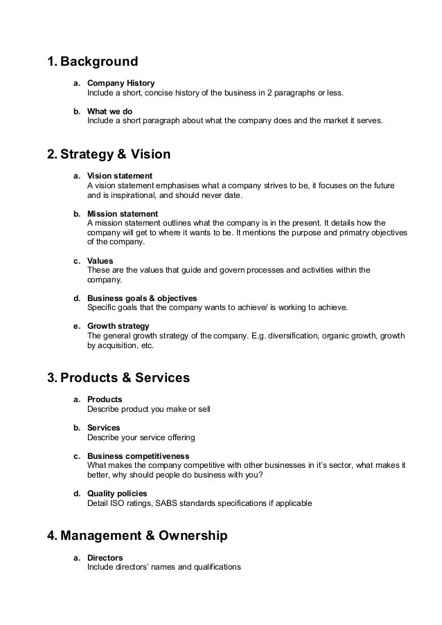 business company profile template - Doritmercatodos