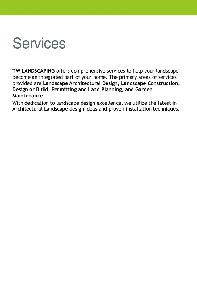 landscaping company profile sample - Mendicharlasmotivacionales
