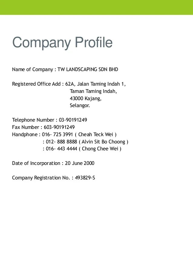 Company Profile Powerpoint Youtube Company Profile Tw Landscaping