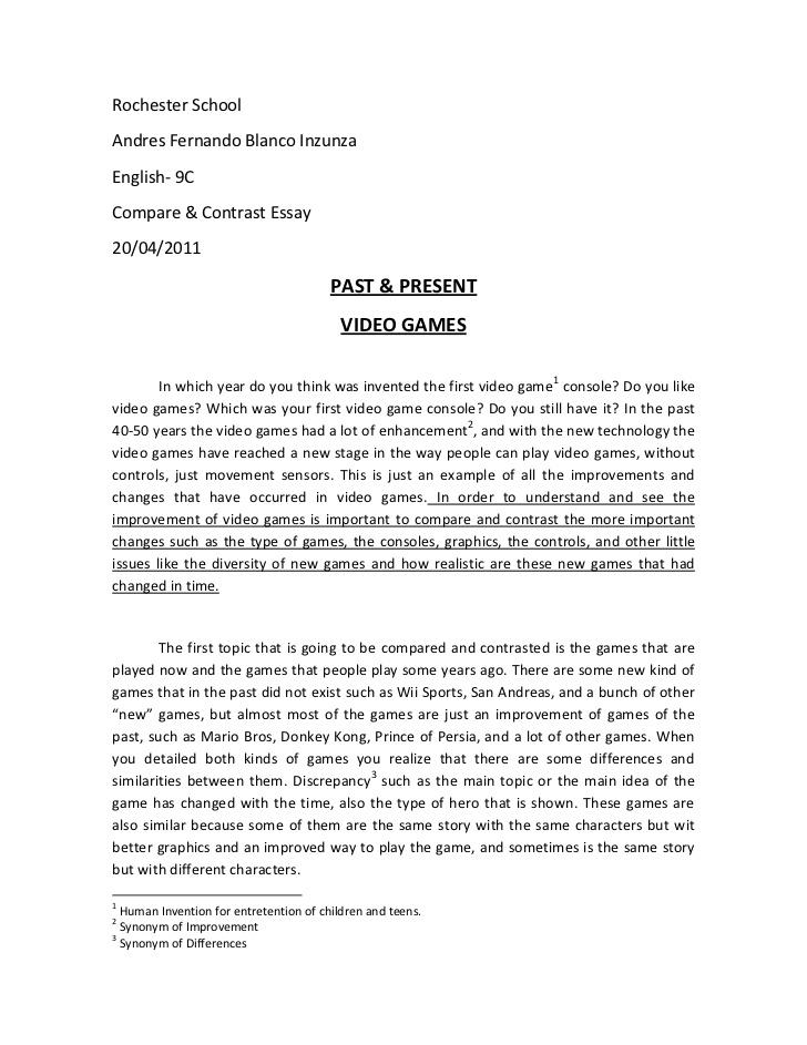 comparison contrast essay example paper comparison contrast essay