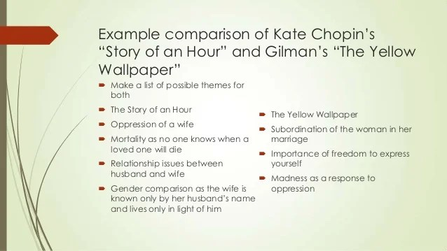 the yellow analysis essay yellow essay compare contrast story hour