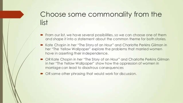 The Yellow Wallpaper Symbolism Quotes Literary Analysis On Story Of An Hour By Kate Chopin
