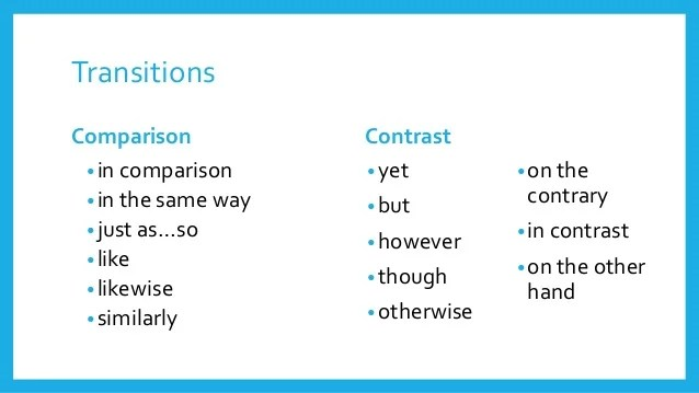 contrast transition words - Apmayssconstruction