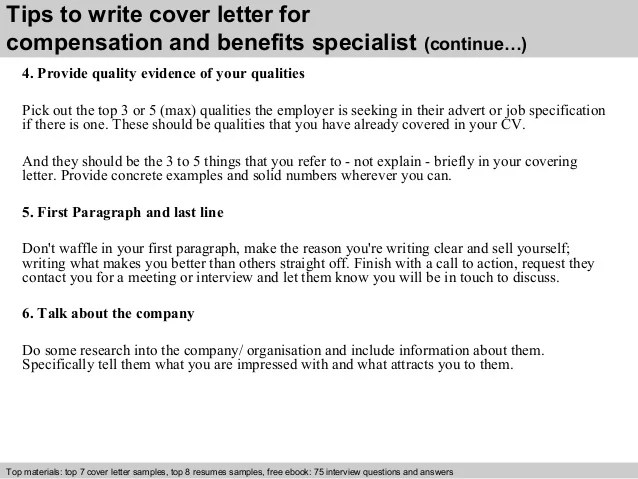 benefits specialist cover letter - Ozilalmanoof - workers compensation specialist sample resume