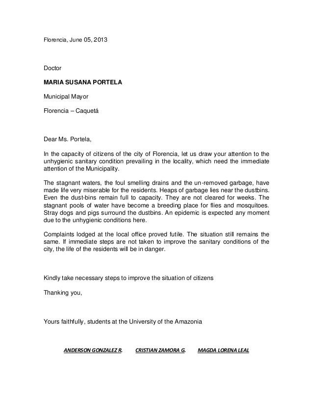 10 Complaint Letters In 6 Months Complaint Letters Sample Letters Formal Complaint Letters 2 Sample Letter Of Complaint 66