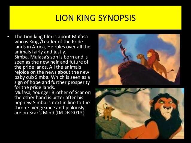 lion king movie synopsis