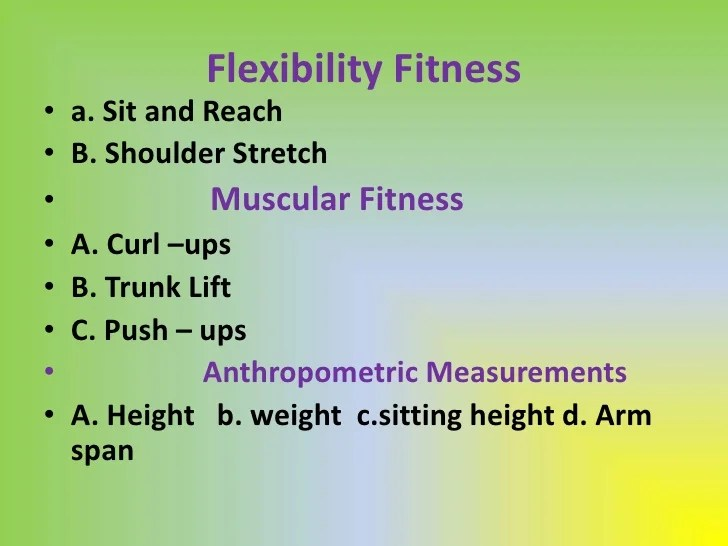 5 components of fitness - Selol-ink