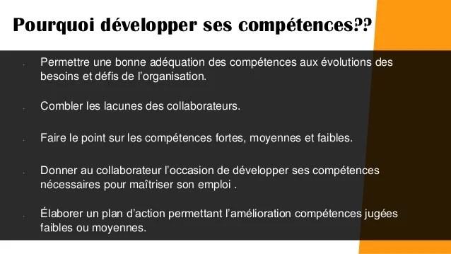 degre de competence cv