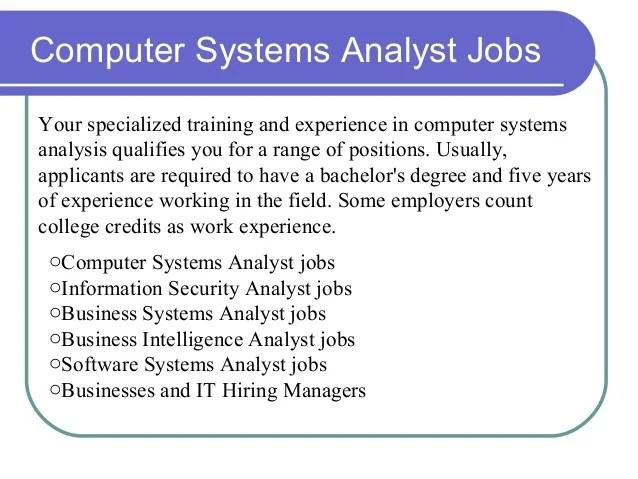 computer systems analysts job description - Canasbergdorfbib