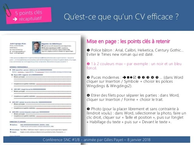 faire un cv en video animee