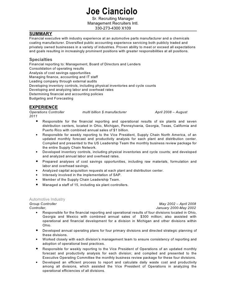 Assistant Cost Controller Resume - Constes.com