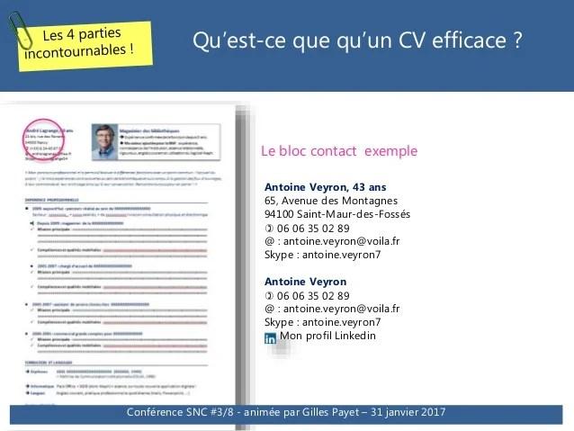 cv bloc competences