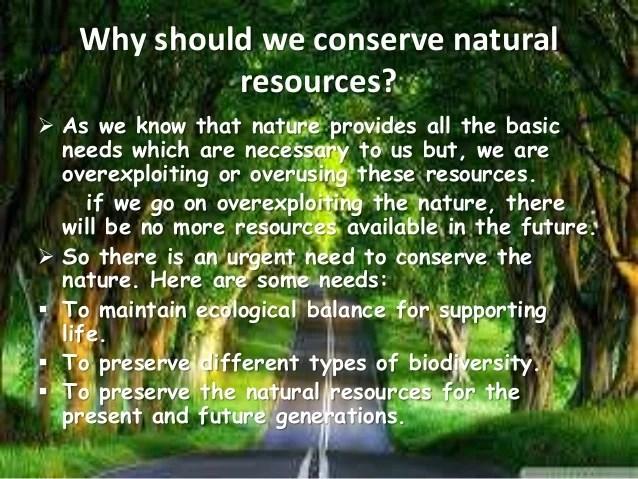 Conservation Of Natural Resourcesppt