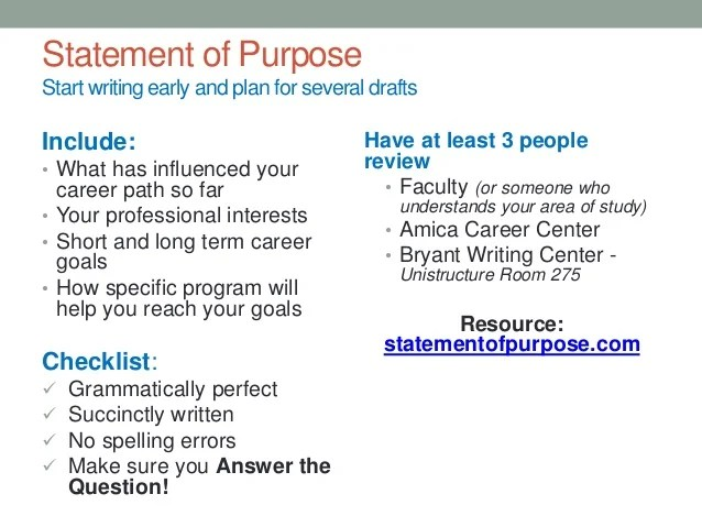 how to write a statement of career goals