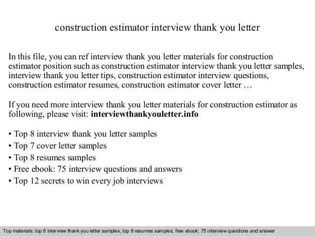 construction estimator cover letter - Josemulinohouse - construction cover letter
