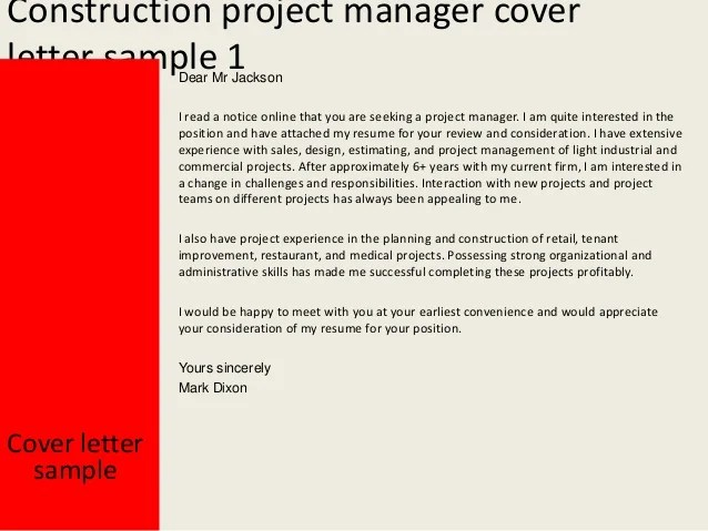 construction project manager cover letters - Onwebioinnovate