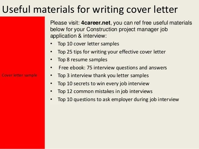 12 Questions Managers Will Ask About Your Resume 12 Questions Managers Will Ask About Your Resume Construction Project Manager Cover Letter