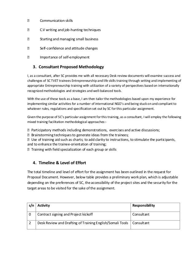 sample consulting proposals - Eczasolinf