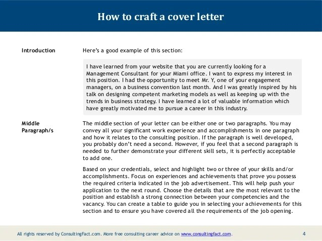 Case Interview Consulting Cover Letter Examples
