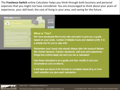 The Freelance Switch online Calculator