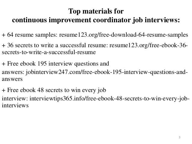 continuous improvement resume examples - Pinarkubkireklamowe