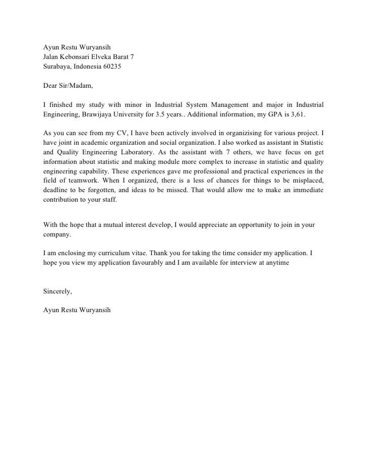 Surat Lamaran Kerja Bahasa Inggris Penjelasan Contoh Contoh Cover Letter