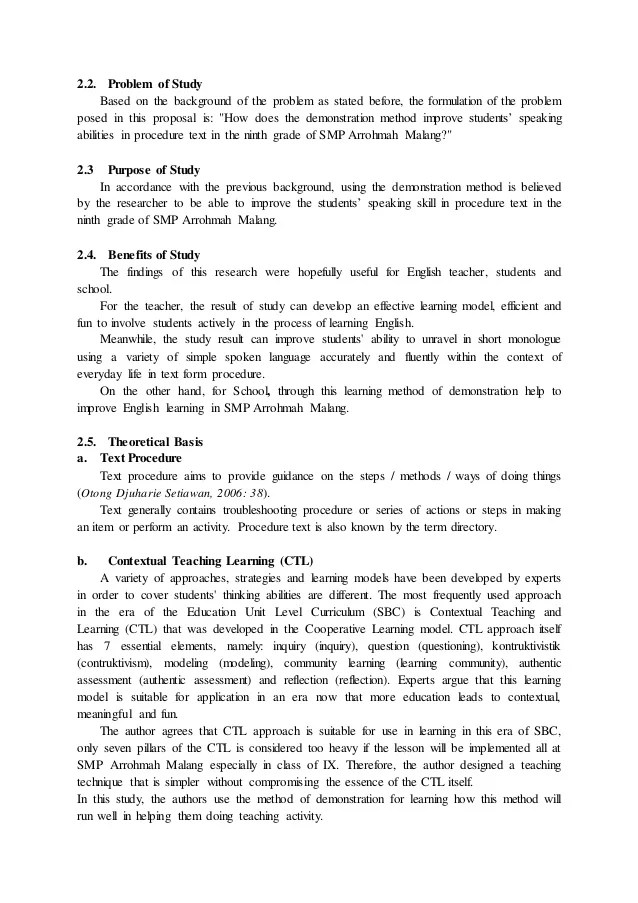 Contoh Karya Ilmiah Ut Contoh Proposal Skripsi Slideshare Contoh Penelitian Tindakan Kelas Matematika Sd
