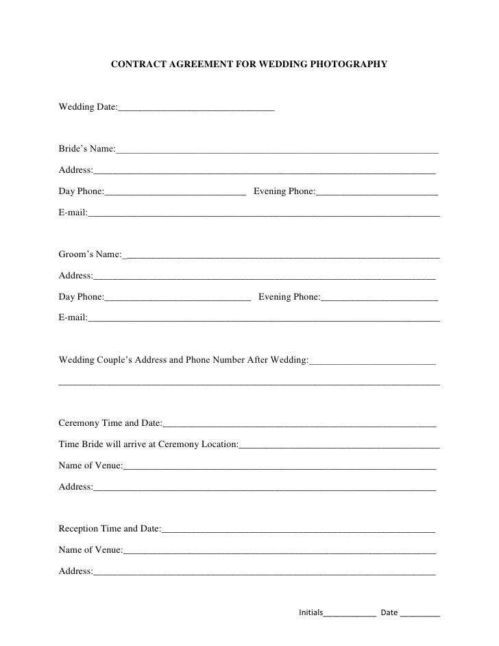 wedding video contract template - Tomburmoorddiner