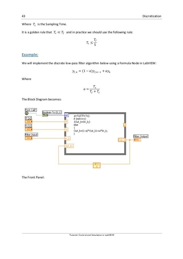 block diagram transfer function formula