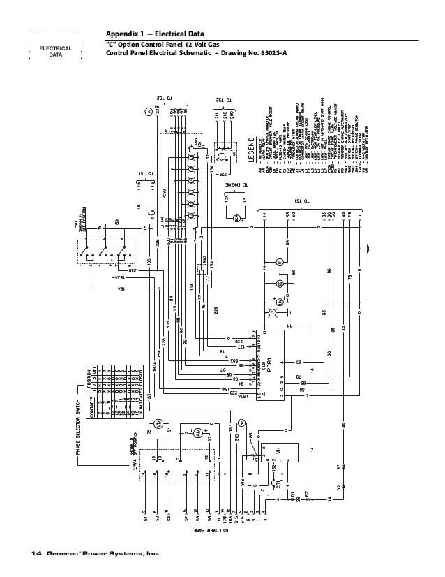 generac h panel wiring diagram