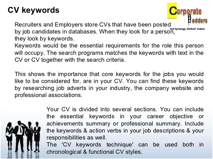 keywords in resume writing - Trisamoorddiner