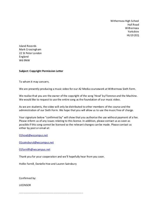 copyright permission letter - Athiykhudothiharborcity