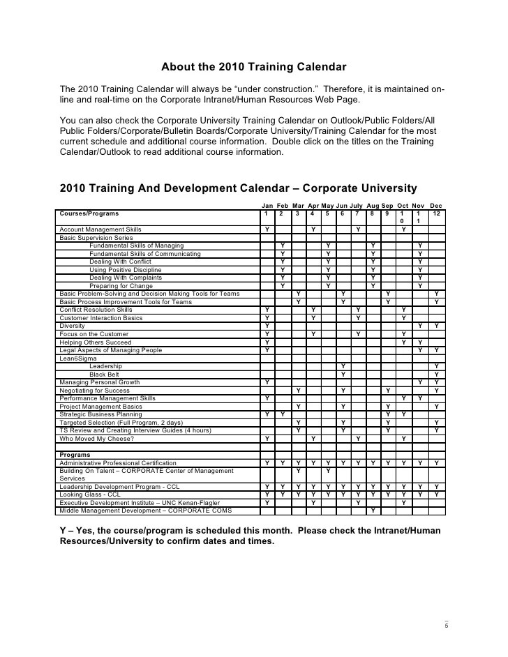 sample training calendar templates - Romeolandinez - sample training calendar format