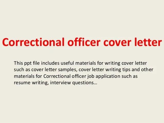 cover letter for correctional officer - Vatozatozdevelopment
