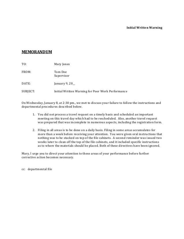 memorandum letters