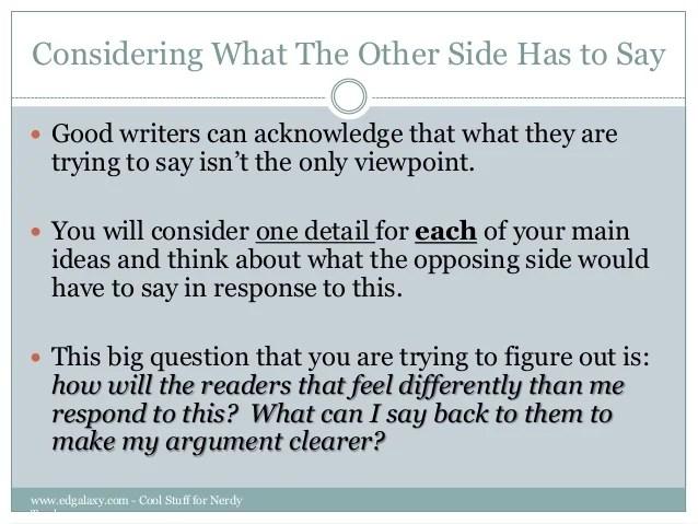 counter argument example - Nevadlugopisyreklamowe